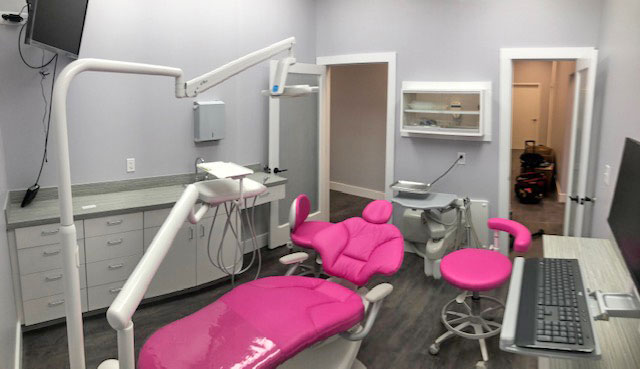 New pink dental chairs!